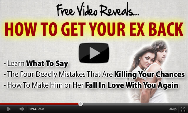 Video reveals strategies how to get your ex partner back to you
